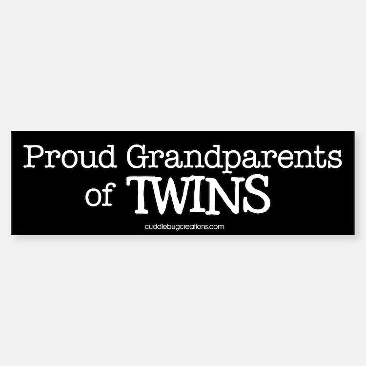 Grandparents of twins - Bumper Bumper Bumper Sticker