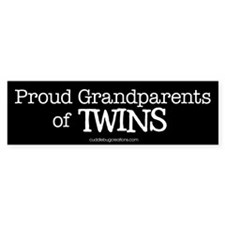 Grandparents of twins - Bumper Bumper Sticker