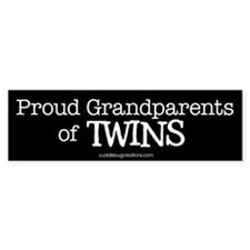 Grandparents of twins - Bumper Stickers