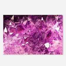Amethyst Healing Gemstone Postcards (Package of 8)