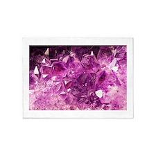 Amethyst Healing Gemstone 5'x7'Area Rug