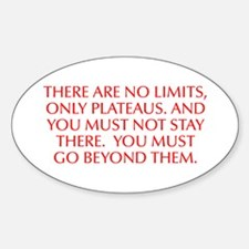 There are no limits only plateaus And you must not
