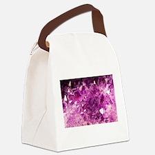 Amethyst Healing Gemstone Canvas Lunch Bag