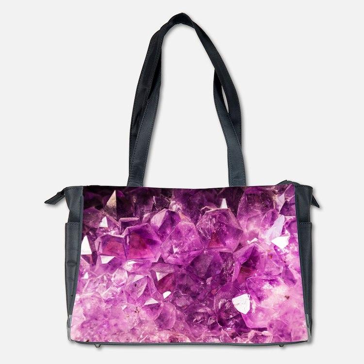 Amethyst Healing Gemstone Diaper Bag