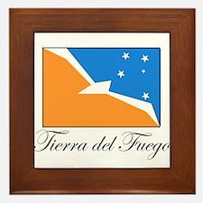 Tierra del Fuego - Flag Framed Tile