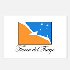 Tierra del Fuego - Flag Postcards (Package of 8)