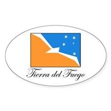 Tierra del Fuego - Flag Oval Decal