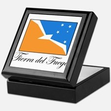 Tierra del Fuego - Flag Keepsake Box