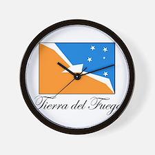 Tierra del Fuego - Flag Wall Clock