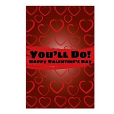 Cute Funny valentine's day Postcards (Package of 8)