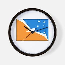 Tierra del Fuego Flag Wall Clock