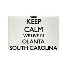 Keep calm we live in Olanta South Carolina Magnets