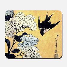 Hokusai Hydrangea and Swallow Mousepad