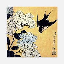 Hokusai Hydrangea and Swallow Queen Duvet