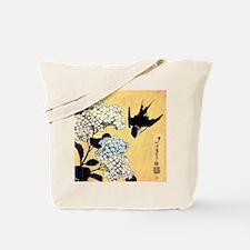 Hokusai Hydrangea and Swallow Tote Bag