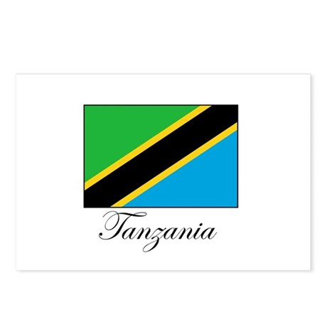 Tanzania - Flag Postcards (Package of 8)