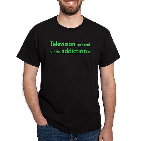 Television Addiction Dark T-Shirt