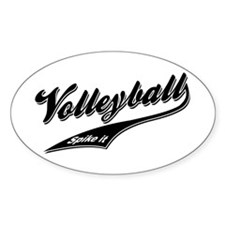 Classic Volleyball Oval Decal