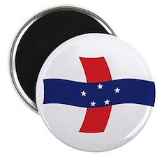 """Netherlands Antilles Flag 2 2.25"""" Magnet (100 pack"""
