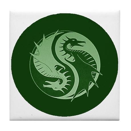 Yin Yang 4 Tile Coaster