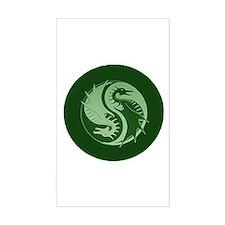 Yin Yang 4 Rectangle Decal