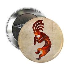 Fire Red Kokopelli Button