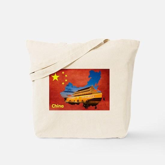 Flag&Map Postcard Tote Bag