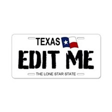Texas 'white' Replica Aluminum License Pla
