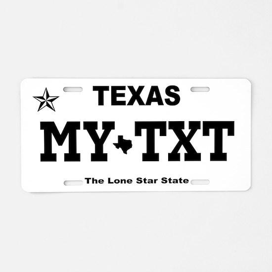 Texas 2013 - Current Aluminum License Plate