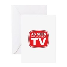 As Seen Watching TV Greeting Card