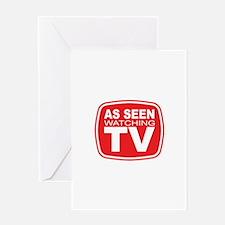 As Seen Watching TV Greeting Card