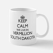 Keep calm we live in Vermillion South Dakota Mugs
