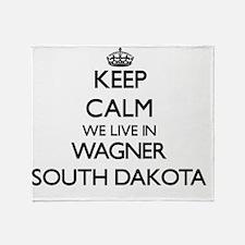 Keep calm we live in Wagner South Da Throw Blanket