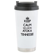 Keep calm we live in At Travel Coffee Mug