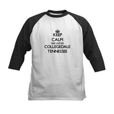 Keep calm we live in Collegedale T Baseball Jersey