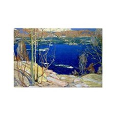 Spring Ice, landscape painting Rectangle Magnet