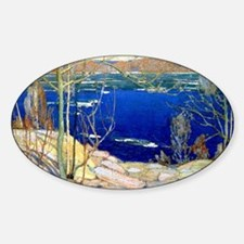 Spring Ice, landscape painting Decal