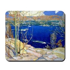 Spring Ice, landscape painting Mousepad