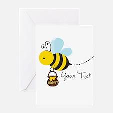 Honey Bee, Honeybee, Carrying Honey; Kid's Greetin