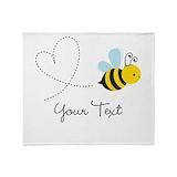 Honey bee Fleece Blankets
