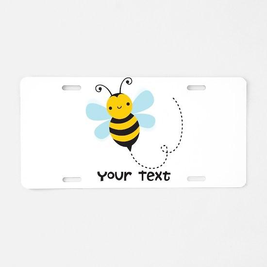 Personalzied Kid's Honey Bee, Black & Yellow Alumi