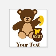Cute Honey Bear; Personalized Kid's Graphic Sticke