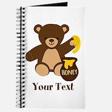 Cute Honey Bear; Personalized Kid's Graphic Journa