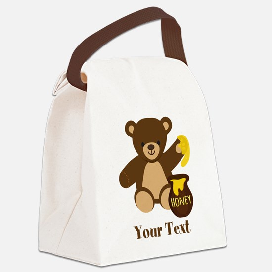 Cute Honey Bear; Personalized Kid's Graphic Canvas