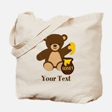 Cute Honey Bear; Personalized Kid's Graphic Tote B