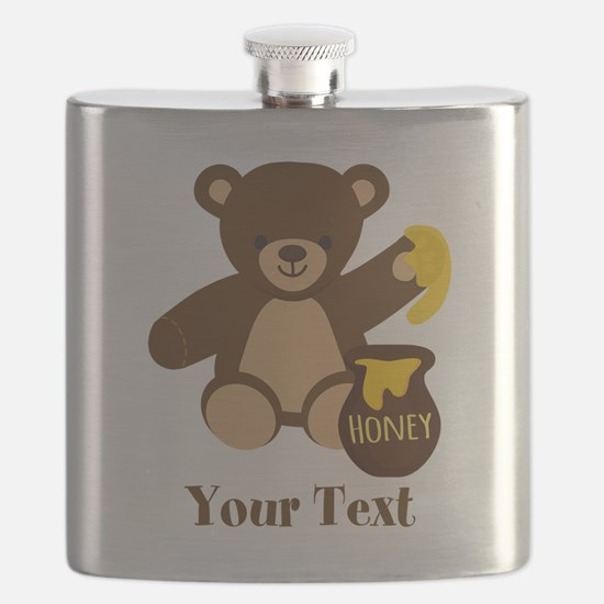 Cute Honey Bear; Personalized Kid's Graphic Flask