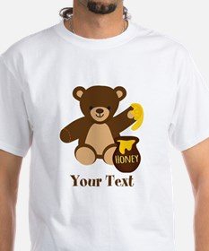 Cute Honey Bear; Personalized Kid's Graphic T-Shir