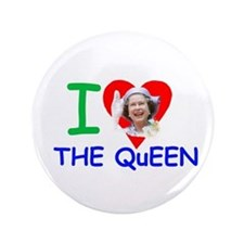 "I Love The Queen Pro photo 3.5"" Button"