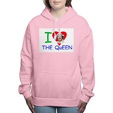 I Love The Queen Pro pho Women's Hooded Sweatshirt