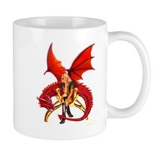 The Girl With the Red Dragon Mugs